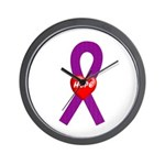 Purple Hope Wall Clock