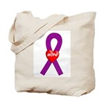 Purple Hope Tote Bag