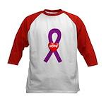 Purple Hope Kids Baseball Jersey
