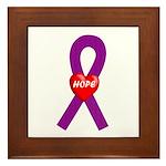 Purple Hope Framed Tile