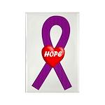 Purple Hope Rectangle Magnet (100 pack)