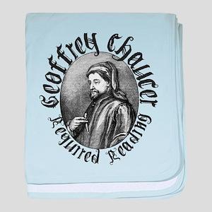 Geoffrey Chaucer baby blanket