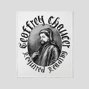 Geoffrey Chaucer Throw Blanket