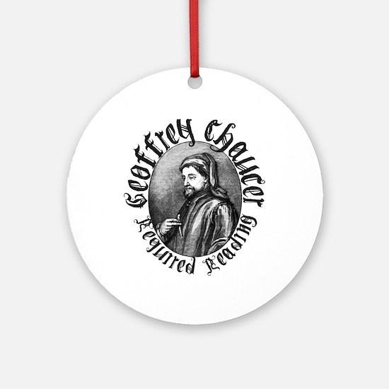Geoffrey Chaucer Ornament (Round)