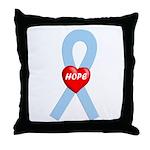 Lt. Blue Hope Throw Pillow