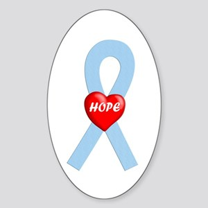 Lt. Blue Hope Oval Sticker
