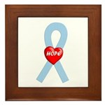 Lt. Blue Hope Framed Tile