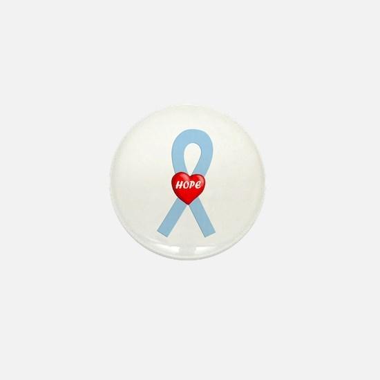 Lt. Blue Hope Mini Button