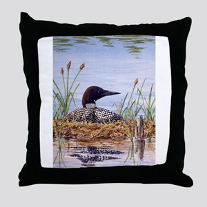Nesting Loons Throw Pillow
