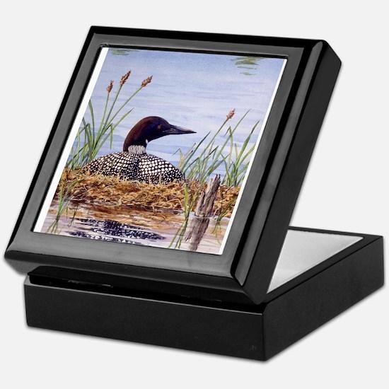 Nesting Loons Keepsake Box