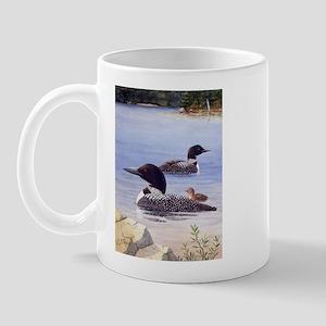 Loons with Chick Mug
