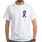 Blue Hope White T-Shirt
