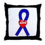 Blue Hope Throw Pillow