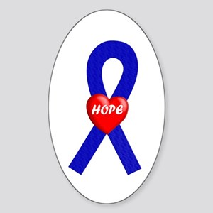 Blue Hope Oval Sticker