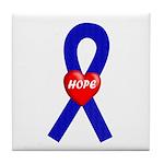 Blue Hope Tile Coaster