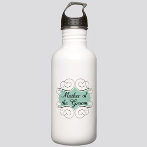 Mother of the Groom Aqua Stainless Water Bottle 1.