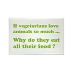 Vegetarians : The Reality Rectangle Magnet (10 pac