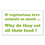 Vegetarians : The Reality Sticker (Rectangle)