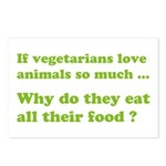 Vegetarians : The Reality Postcards (Package of 8)