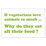 Vegetarians : The Reality Large Poster
