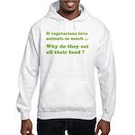 Vegetarians : The Reality Hooded Sweatshirt