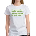 Vegetarians : The Reality Women's T-Shirt