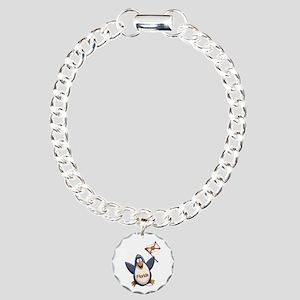 Florida Penguin Charm Bracelet, One Charm