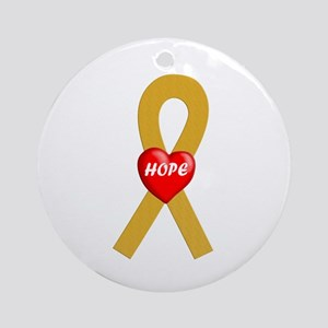 Gold Hope Ornament (Round)