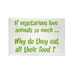 Vegetarians Sarcasm Rectangle Magnet