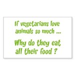 Vegetarians Sarcasm Sticker (Rectangle 10 pk)