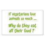 Vegetarians Sarcasm Sticker (Rectangle)