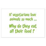 Vegetarians Sarcasm Large Poster
