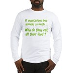 Vegetarians Sarcasm Long Sleeve T-Shirt