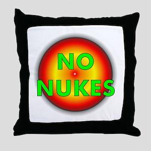 No Nukes Throw Pillow