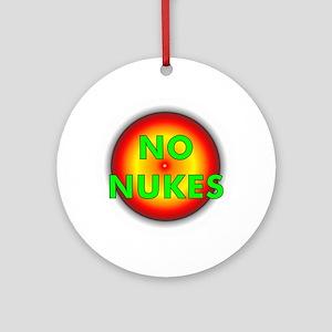 No Nukes Ornament (Round)