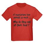 Vegetarians Sarcasm Kids Dark T-Shirt
