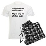 Vegetarians Sarcasm Men's Light Pajamas