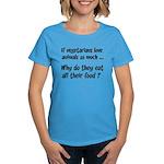 Vegetarians Sarcasm Women's Dark T-Shirt