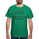 Vegetarians Sarcasm Dark T-Shirt