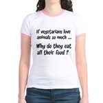 Vegetarians Sarcasm Jr. Ringer T-Shirt