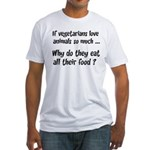 Vegetarians Sarcasm Fitted T-Shirt