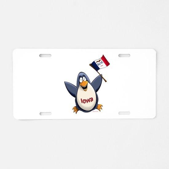 Iowa Penguin Aluminum License Plate