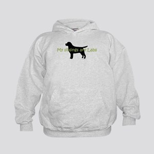 My Siblings are Labs Kids Hoodie