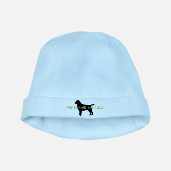 My Siblings are Labs baby hat