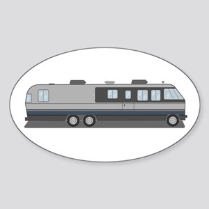 Classic Airstream Motor Home Sticker (Oval)
