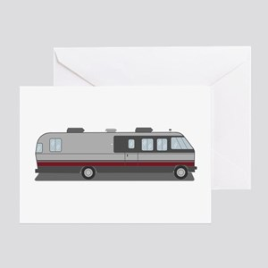Classic Airstream Motor Home Greeting Card