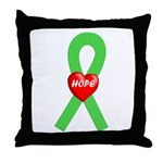 Lime Hope Throw Pillow