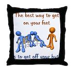 The Best Way Throw Pillow