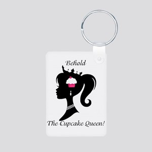 Cupcake Queen Aluminum Photo Keychain