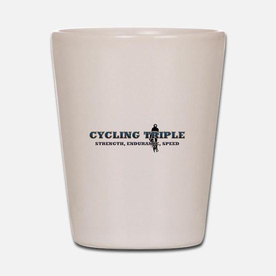 TOP Cycling Slogan Shot Glass
